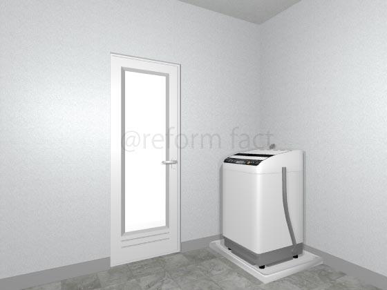 浴室開き戸,交換後,ホワイト,樹脂
