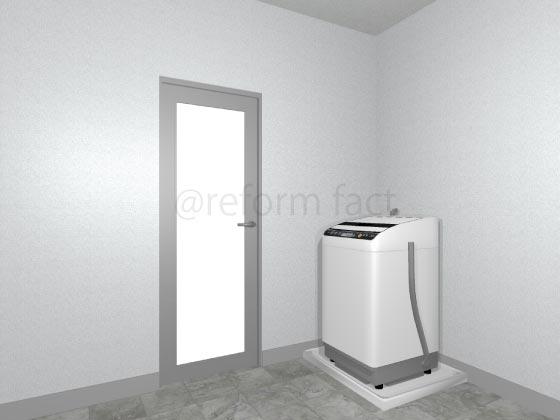 浴室開き戸,交換後,シルバー,グレー,アルミ