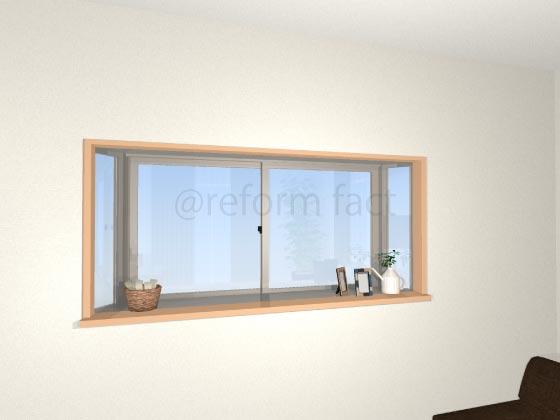 出窓,部屋壁紙クロス