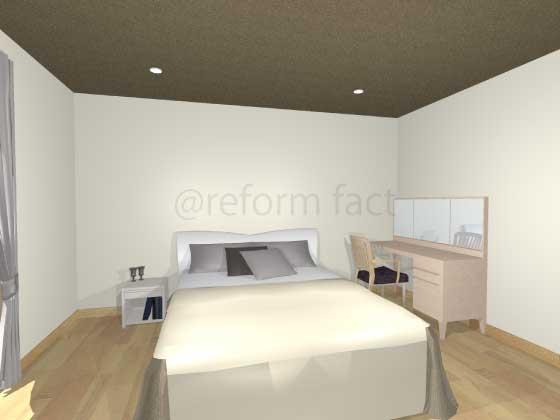 寝室アクセントクロス,茶色,天井,モダン