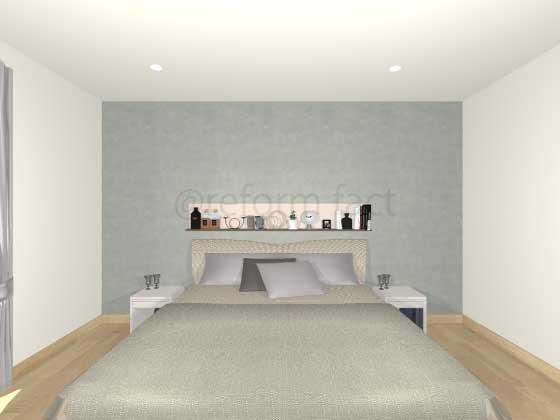 寝室ニッチ収納