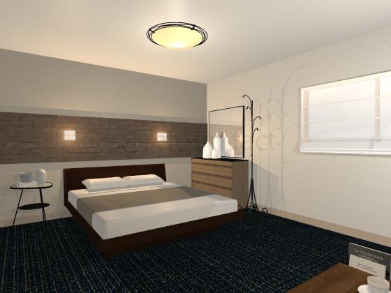 寝室,カーペット,黒色