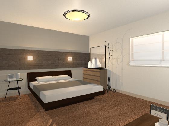 寝室,カーペット,ブラウン