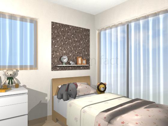 子供部屋,ベッド上,エコカラット,ラグジュアリーモザイク