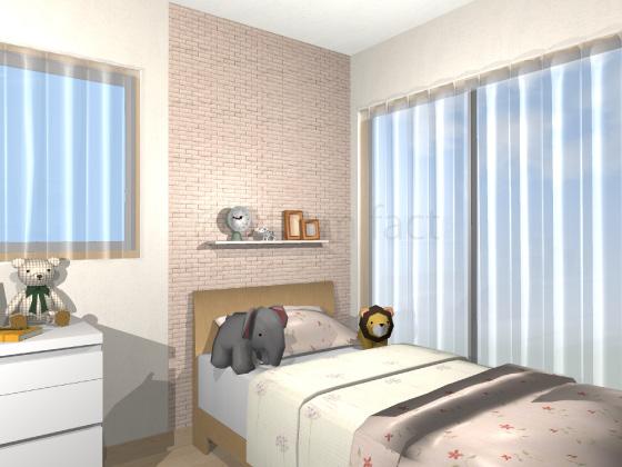 子供部屋,ベッド裏,エコカラット,ランド