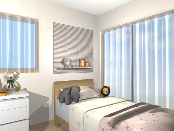 子供部屋,ベッド上,エコカラット,ドームボーダー