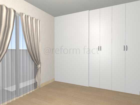 子供部屋,間仕切り壁工事,工事後,収納,イメージ