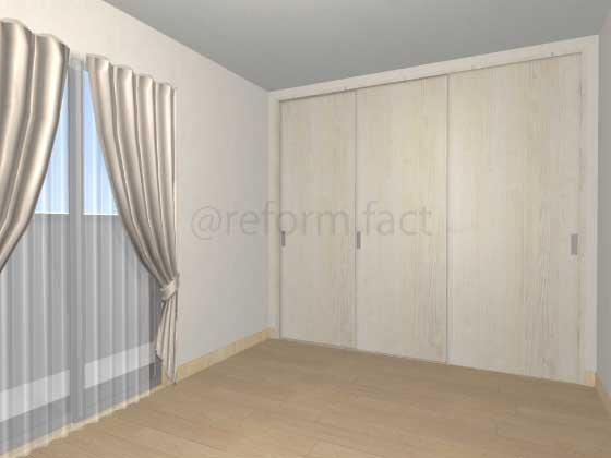 子供部屋,間仕切り壁工事,工事後,引き戸,イメージ
