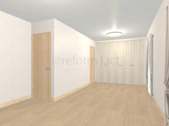 子供部屋,間仕切り壁工事,工事前1