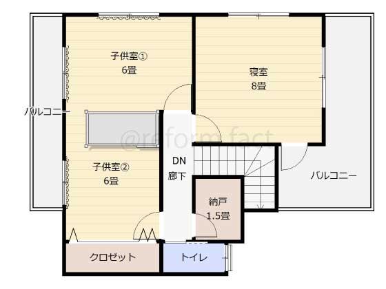 子供部屋,間仕切り壁工事,工事後,図面,レイアウト,二段ベッド