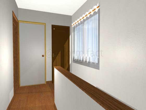 廊下,押入れをトイレにリフォーム,開き戸(茶色),工事後,イメージ