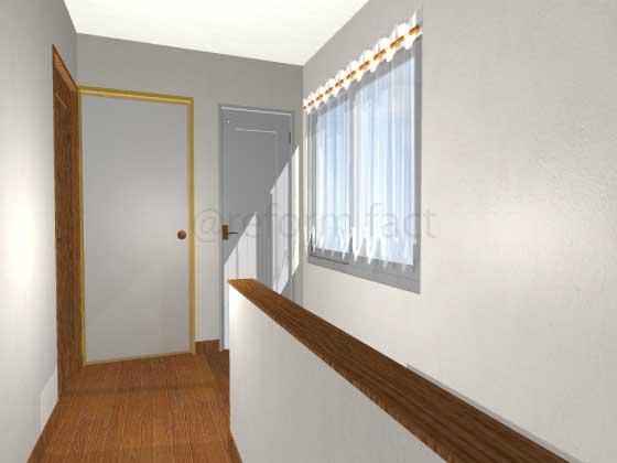廊下,押入れをトイレにリフォーム,開き戸(白色),工事後,イメージ