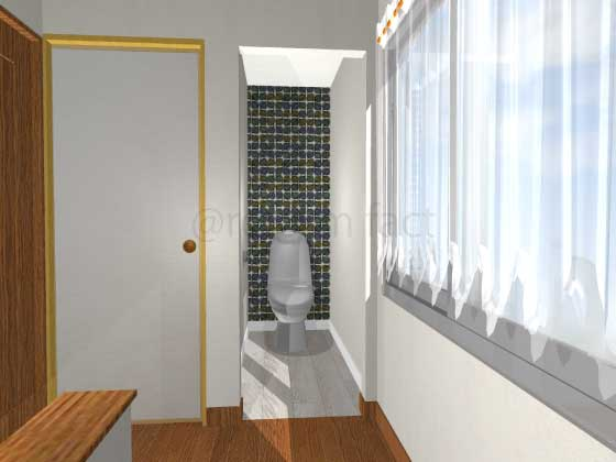 トイレ,押入れをトイレにリフォーム,工事後,イメージ