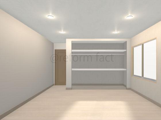 クローゼット収納,枕棚,中段,ハンガーパイプ