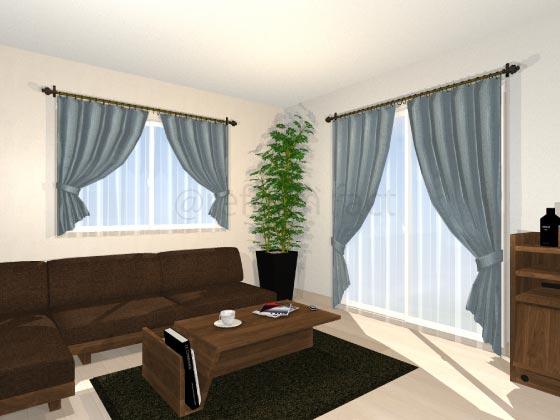 ドレープカーテン,装飾レール,カーテンレール