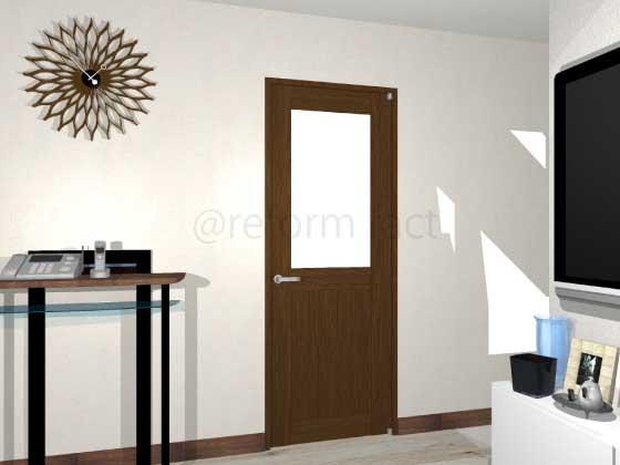 扉ドアシート張り,茶色,開き戸