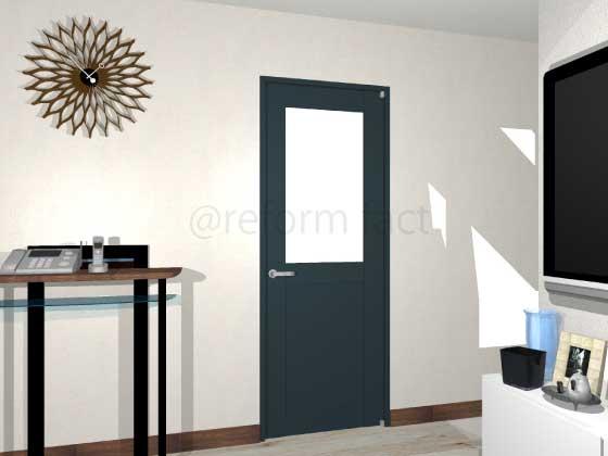 扉ドアシート張り,紺色,黒色,開き戸