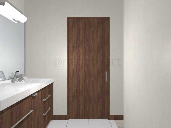 扉ドアシート張り,茶色,引き戸