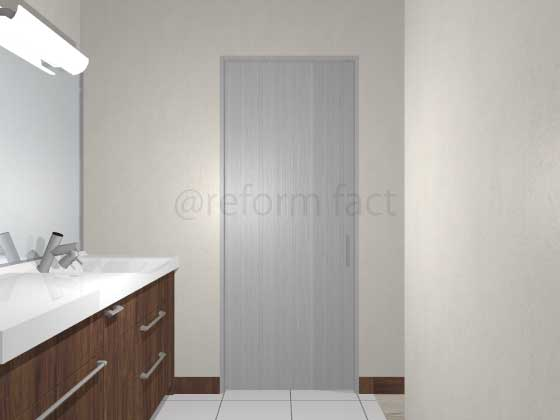 扉ドアシート張り,グレー木目,引き戸