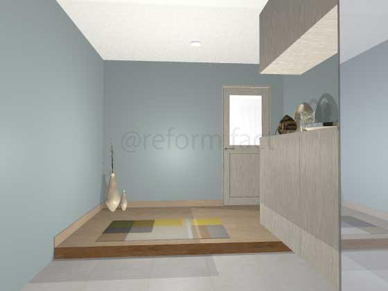 玄関アクセントクロス,コースタル,薄い青色