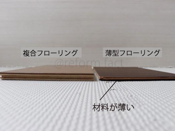 フローリングの種類,複合フローリング,薄型フローリング,戸建て,マンション,断面,12mm,6mm,4mm