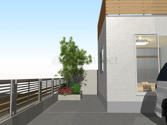 庭,コンクリート,工事後
