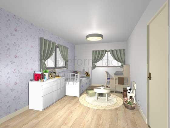 子供部屋,アクセントクロス,女の子,プリティ,薄紫色