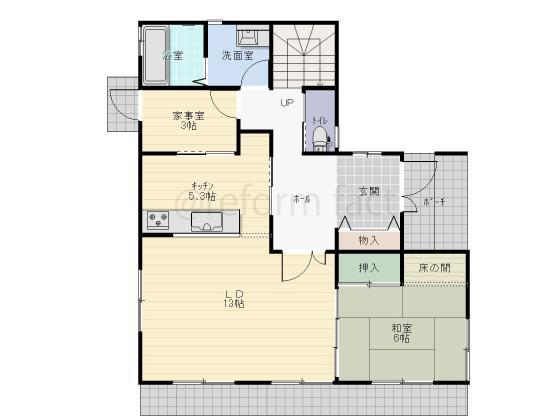 戸建て,一軒家,41.5坪,1階,図面