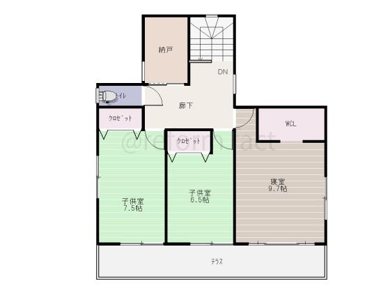 戸建て,一軒家,41.5坪,2階,図面