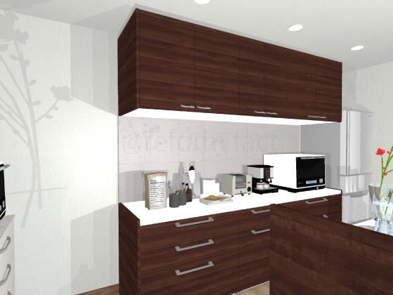 キッチン,カップボード,食器棚,クウォーツストーン