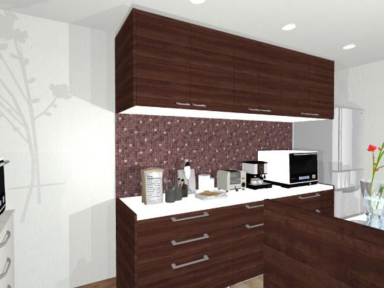 キッチン,カップボード,食器棚,ラグジュアリーモザイク