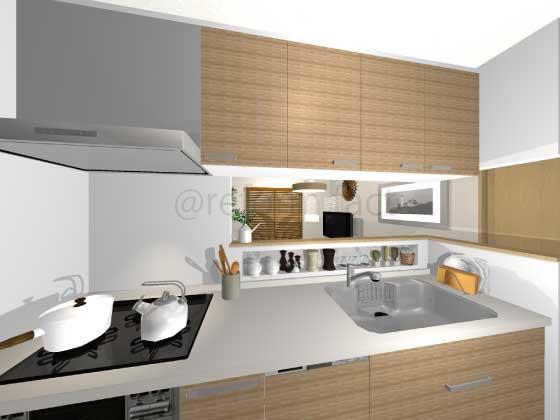 キッチン天板,人造大理石