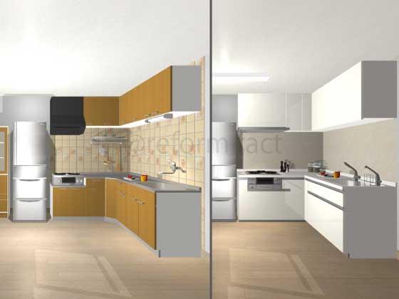 L型キッチンを交換、費用はどれくらい?