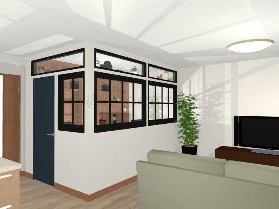 書斎リフォーム,外観,窓付き