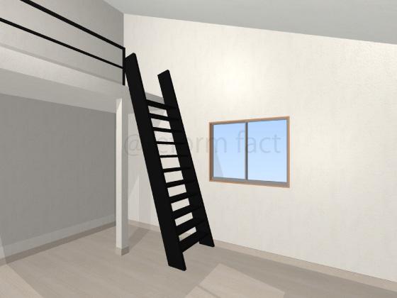 ロフト,はしご,柱,洋室