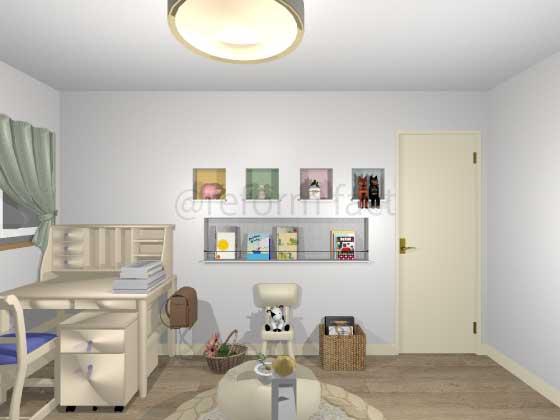 子供部屋,ニッチ収納2,工事後