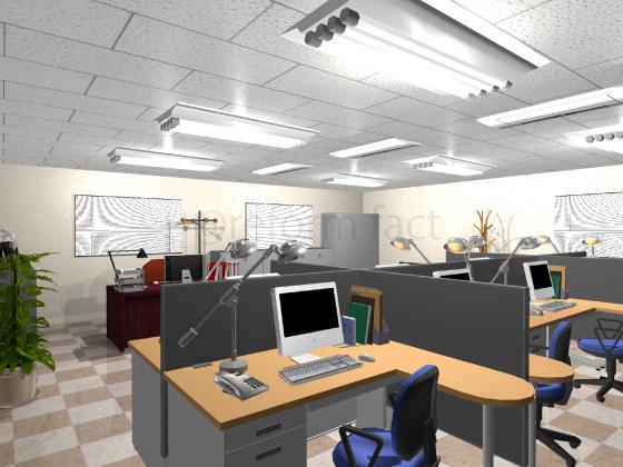 事務所,工事後,天井ジプトーン,白いペンキ