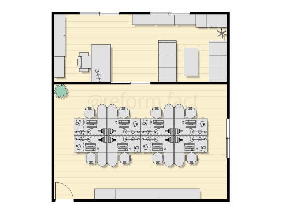 事務所,図面,間取り,間仕切り壁,パーテーション