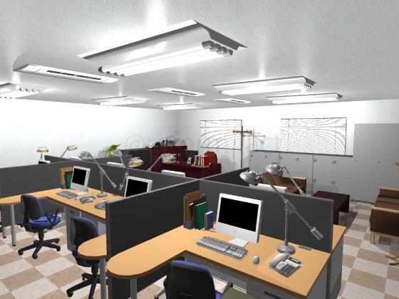 事務所,工事後,天井ジプトーン,壁紙クロス張り替え,床Pタイル