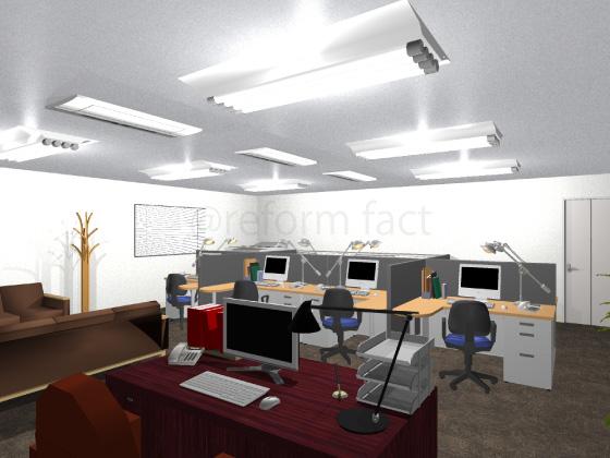 事務所,工事後,天井ジプトーン,壁紙クロス張り替え,床ロボフロアー張り