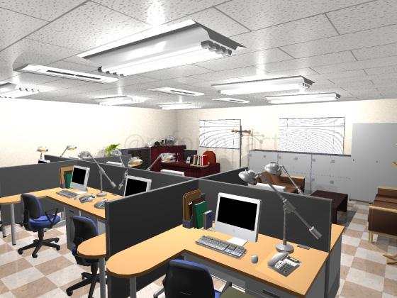 事務所,工事前,天井ジプトーン,壁紙クロス,床Pタイル