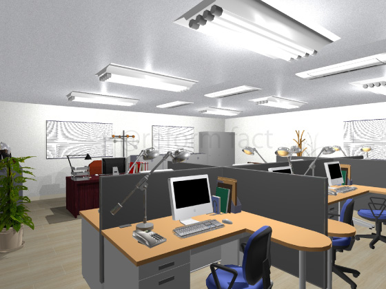 事務所,工事後,天井ジプトーン,壁紙クロス張り替え,床クッションフロア張り