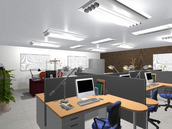 事務所,工事後,天井ジプトーン,壁紙クロス,床Pタイルグレー色