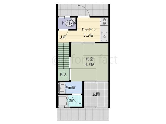 長屋,2階建て,1階,リフォーム工事前
