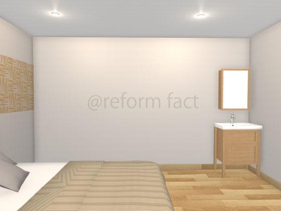 セカンド洗面台,寝室,造作洗面台,W650