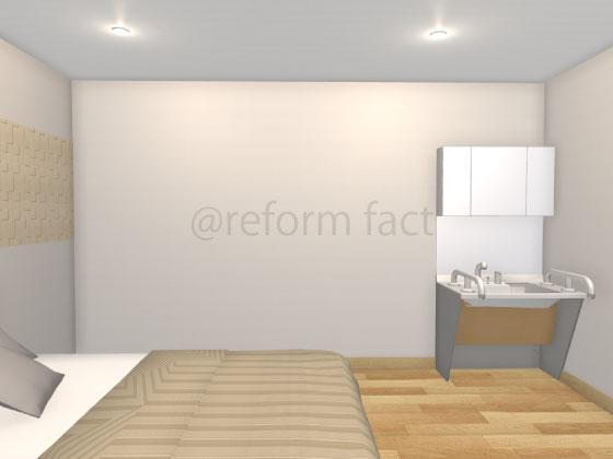 セカンド洗面台,寝室,ドゥケアカウンター,コンポートタイプ,W900