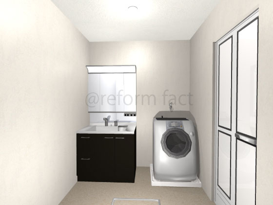 洗面台,W900,90cm,交換,LIXIL,ラルージュ
