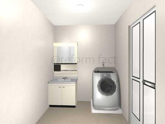 洗面所,床暖房,工事前