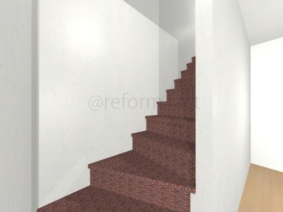 階段カーペット,赤色