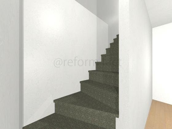 階段カーペット,濃い緑色